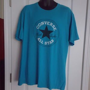 Converse All Star Short Sleeve Aqua Blue T-Shirt